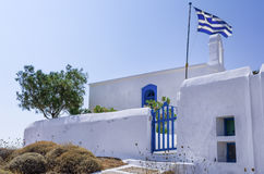 Small Orthodox church in Kythnos island, Cyclades, Greece Stock Photos