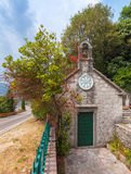 Small Orthodox Church in Perast, Montenegro Stock Images