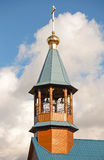 Small Orthodox church in St.Petersburg, Russia. Dome with cross of small Orthodox church in St.Petersburg, Russia Royalty Free Stock Photography