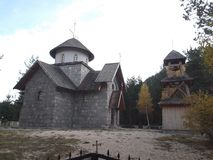 The Small Church. The Small Orthodox Church in The Zminica Village royalty free stock photo