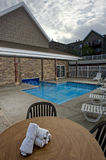 Small outdoor pool Stock Images