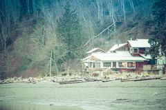 A small Pacific Coast Cottage royalty free stock photo