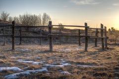 Small paddock enclosure fence Stock Image