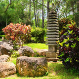 Small pagoda on a japanese garden Stock Photo