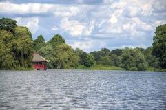 Small pagoda on a lake Royalty Free Stock Images