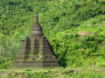Small pagoda in Mrauk U, Myanmar Royalty Free Stock Photo