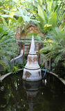 Small pagoda in the pond Royalty Free Stock Photo