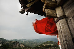 Small pagoda in a rural, mountainous area, Shanxi Province, China Royalty Free Stock Photo