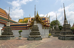 Small pagodas called Phra Chedi Rai at Wat Phra Kaew, Emerald Buddha Temple Royalty Free Stock Photo
