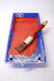 Small paint roller tray Royalty Free Stock Image