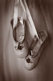 Small pair of ballet slippers royalty free stock photography