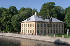 Small palace. Summer palace of Russian emperor Peter the Great, XVIII century royalty free stock image