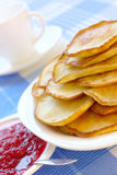 Small pancakes - traditional Russian cuisine Stock Photography