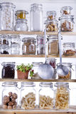 Small Pantry. Housewife, Containing Necessary To Cook royalty free stock photography