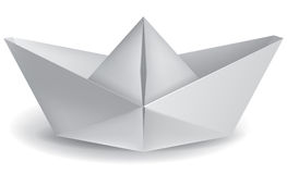 Small paper boat Royalty Free Stock Photos