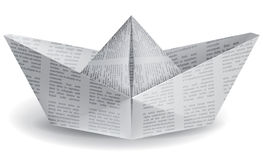Small paper boat Stock Images