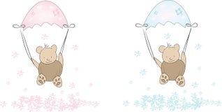 Small parachute bears Royalty Free Stock Photo