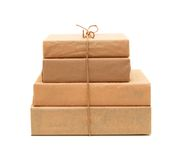 Small parcel wrapped Stock Photos