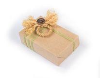 Small parcel wrapped Royalty Free Stock Images