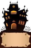 Small parchment and haunted mansion 4 Vector Illustration