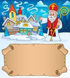 Small parchment and Saint Nicholas 2 royalty free stock photos