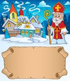Small parchment and Saint Nicholas 1 royalty free stock photography