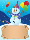 Small parchment in winter party theme 2 stock photography