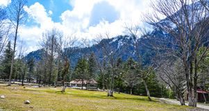 Small Park in Naran Valley, Pakistan Royalty Free Stock Photography