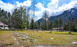 Small Park in Naran Valley, Pakistan Royalty Free Stock Images
