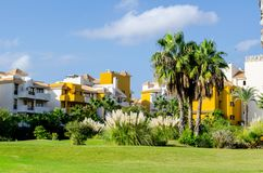 A small park  in Torrevieja, Spain. Royalty Free Stock Images