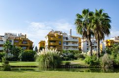 A small park  in Torrevieja, Spain. Royalty Free Stock Photography