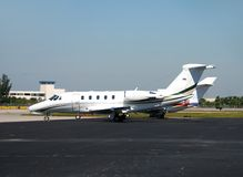 Small parked aircraft Royalty Free Stock Photos