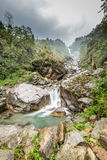Small part of kanchenjunga Waterfall in Himalayas Stock Images
