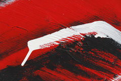 Small part of painted metal wall with  black,red and white paint. Colourful abstract background-Close up 3 Stock Photos