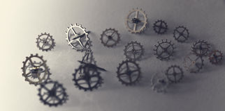 Small parts of clock Royalty Free Stock Photography