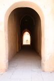 Small Passage Way. Located in a coptic christian monastery in Egypt. Concept: No Pain No Gain Royalty Free Stock Images