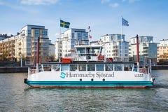 Small passenger ferry Lisen, Stockholm, Sweden Royalty Free Stock Photo