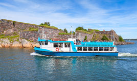 Small passenger ship MS Amiraali operated by JT-Line Royalty Free Stock Images