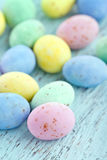 Small pastel color easter eggs Royalty Free Stock Image
