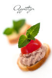 Small pate sandwich Royalty Free Stock Photography