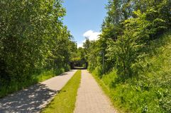 Path in Aalborg Denmark. Small path in Aalborg Denmark stock images