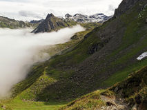 Small path in the Raetikon mountains Stock Images