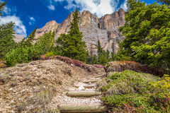 Small path to Dolomites in Italy, Europe. Small path to Dolomites in Italy Stock Photos