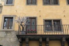 Small patio in Ponte Vecchio Stock Photo