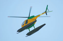 Small patrol helicopter Stock Photo