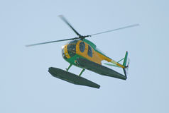 Small patrol helicopter Stock Images