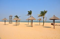 Small pavalions at a seaside resort Royalty Free Stock Images