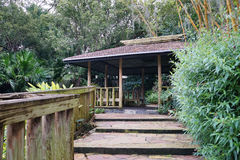 A small pavilion in a Garden Stock Images