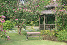 Small pavilion in park Royalty Free Stock Photos