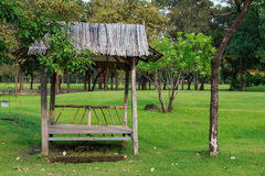 Small pavilion in park Stock Images